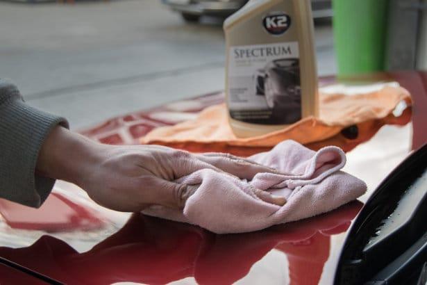 wosk w płynie, nabłyszczanie quick detailerem po myjni bezdotykowej