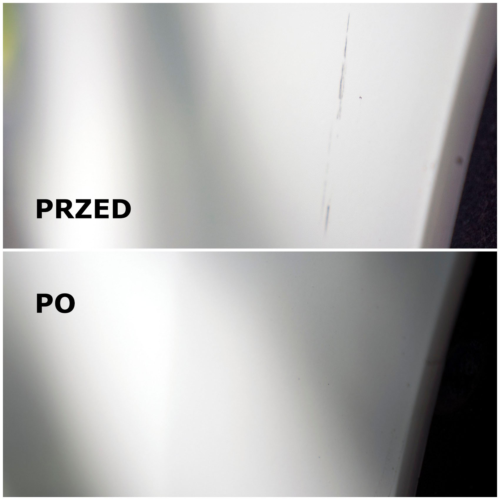 efek to usunięciu zarysowania z lakieru