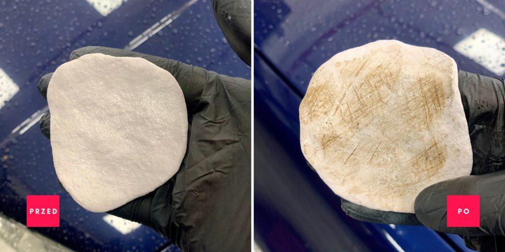 Glinka przed i po użyciu