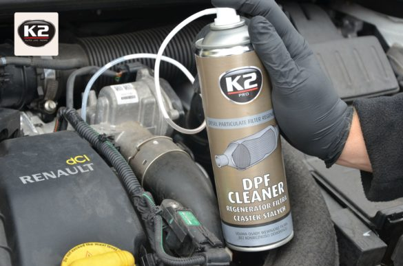 K2 DPF Cleaner podczas użycia