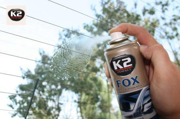 Antypara K2 Fox podczas użycia na szybie samochodowej