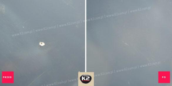 Efekt przed i po użyciu K2 Glass Doctor