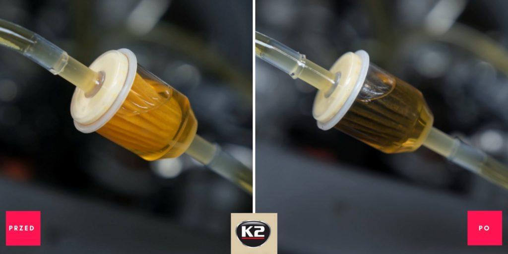 Efekt przed i po użyciu produktu K2 Diesel Dictum