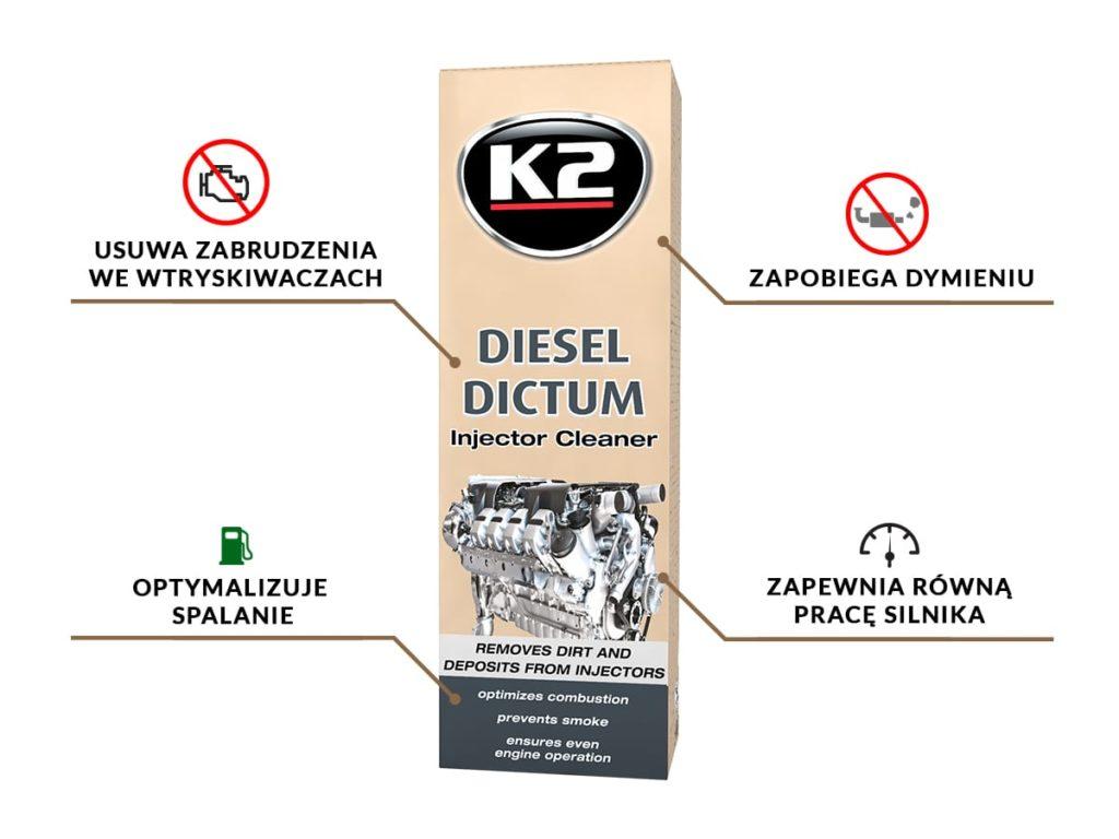Korzyści z zastosowania środka do czyszczenia wtryskiwaczy - K2 Diesel Dictum