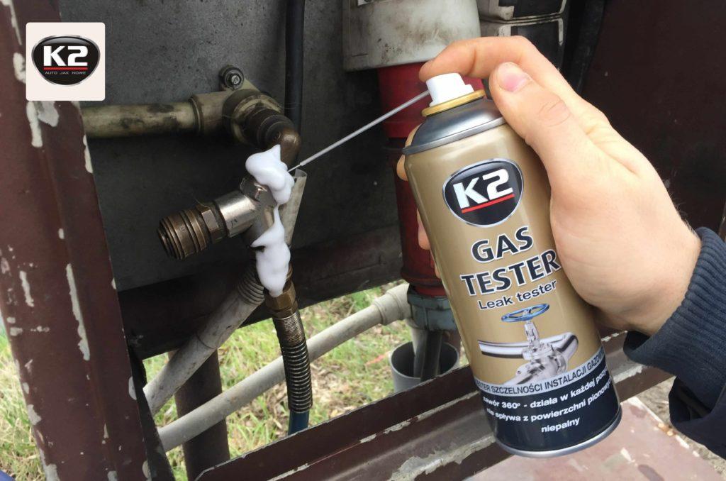 K2 Gas Tester sprwadzanie szczelności