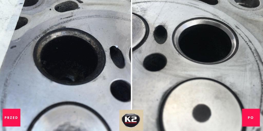 Efekt przed i po zastosowaniu K2 Mega Grind