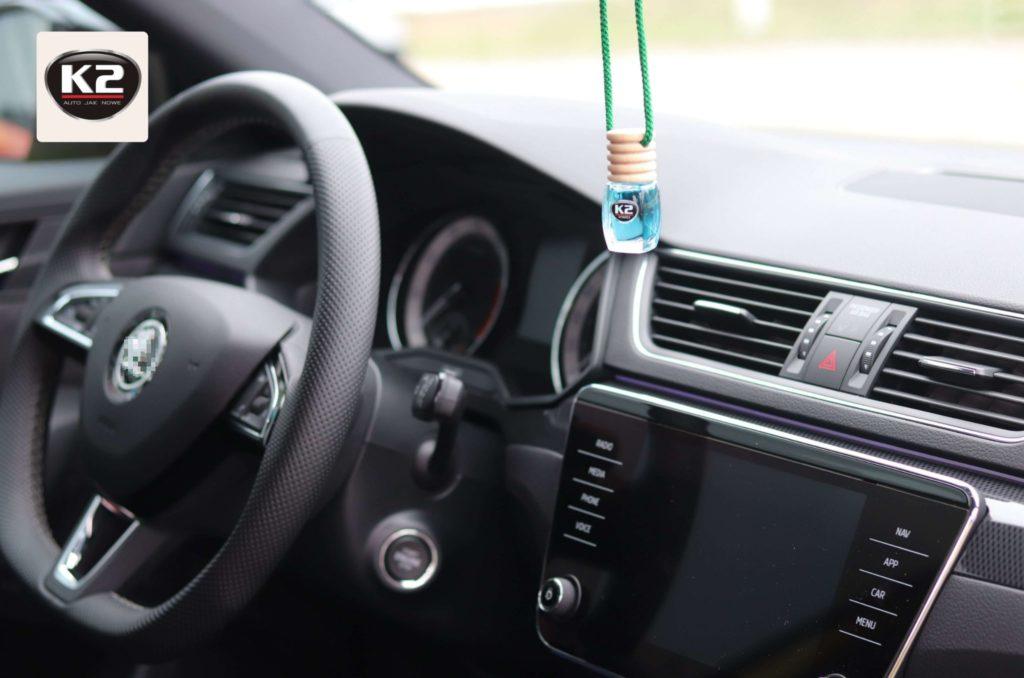 K2 Vento zielona herbata w samochodzie