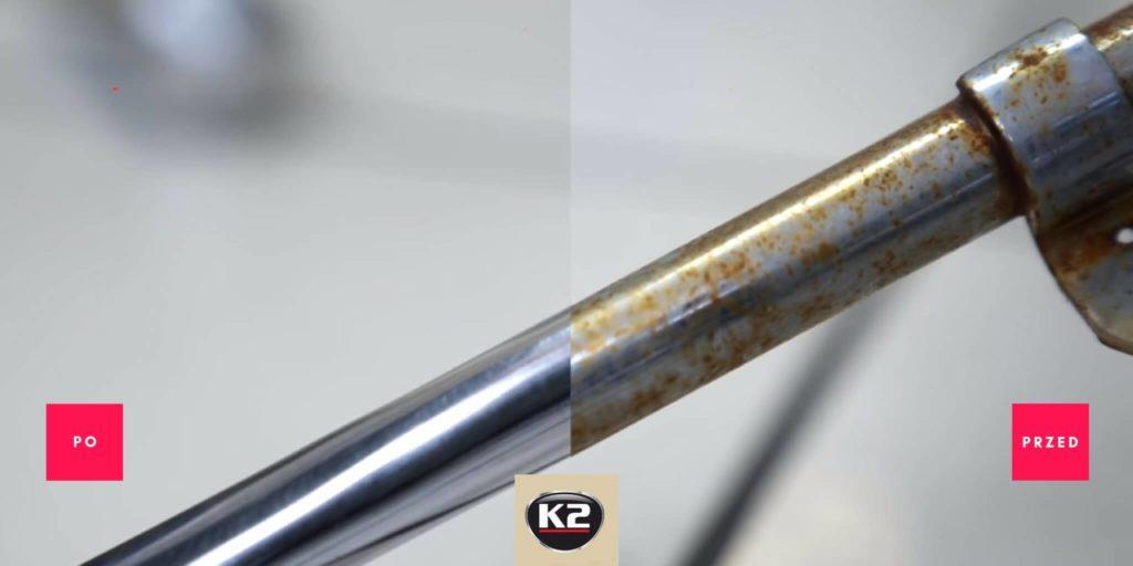 Efekt przed i po użyciu K2 Aluchrom