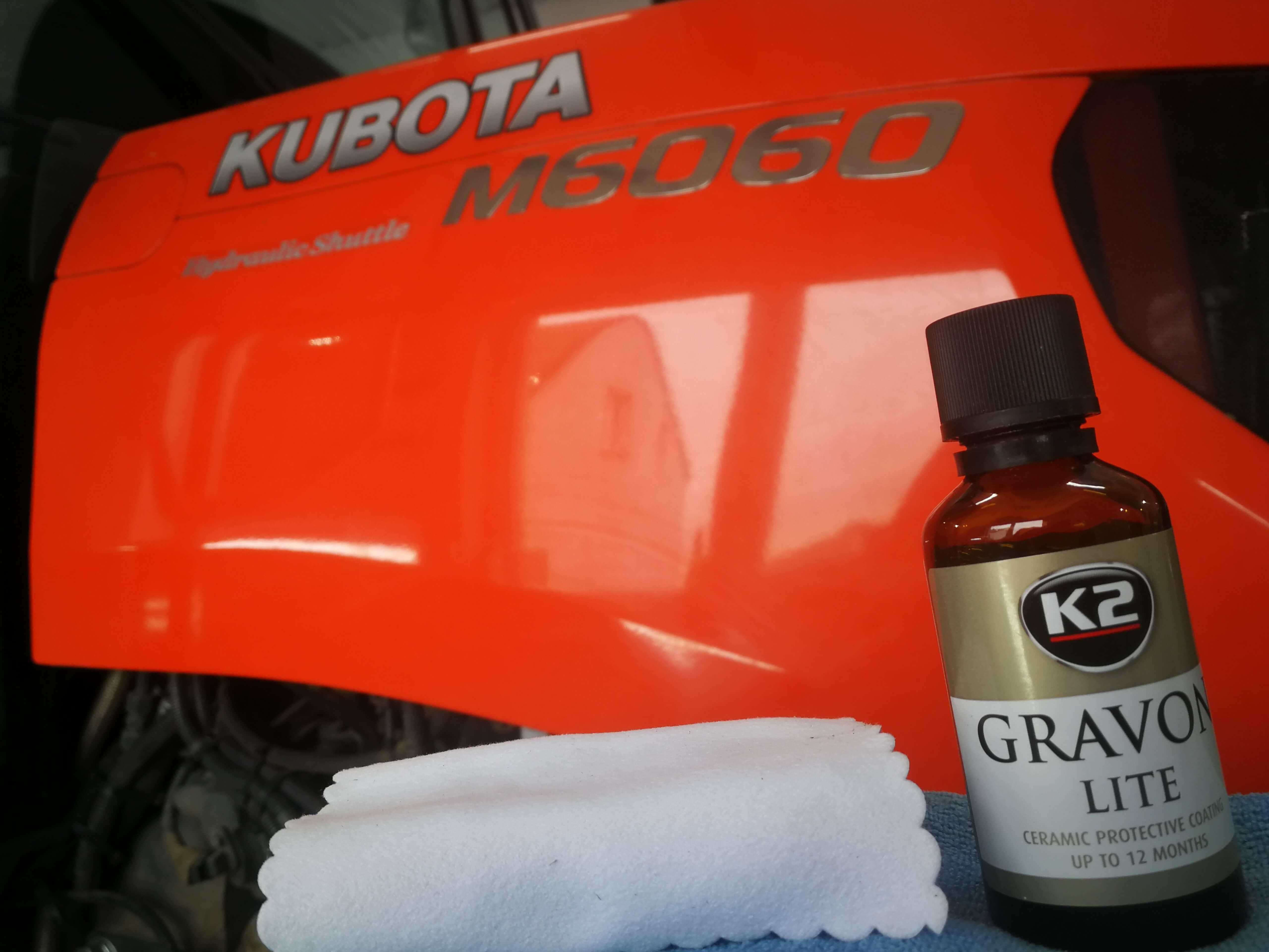 K2 Gravon Lite na ciągniku Kubota
