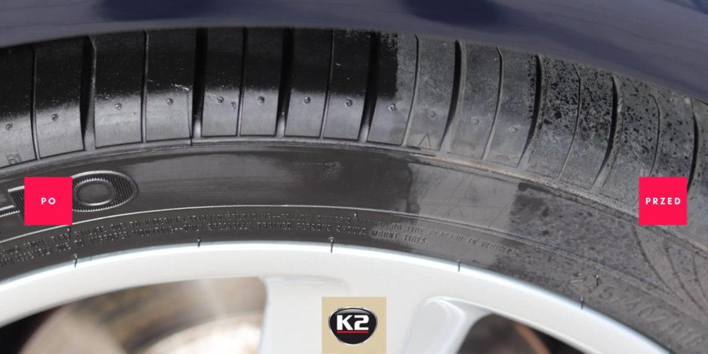 Efekt mokrej opony po użyciu K2 Bold