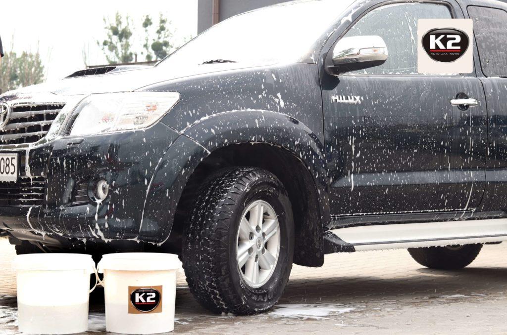 Osuszanie lakieru po zastosowaniu szamponu hydrofobowego K2 Vena