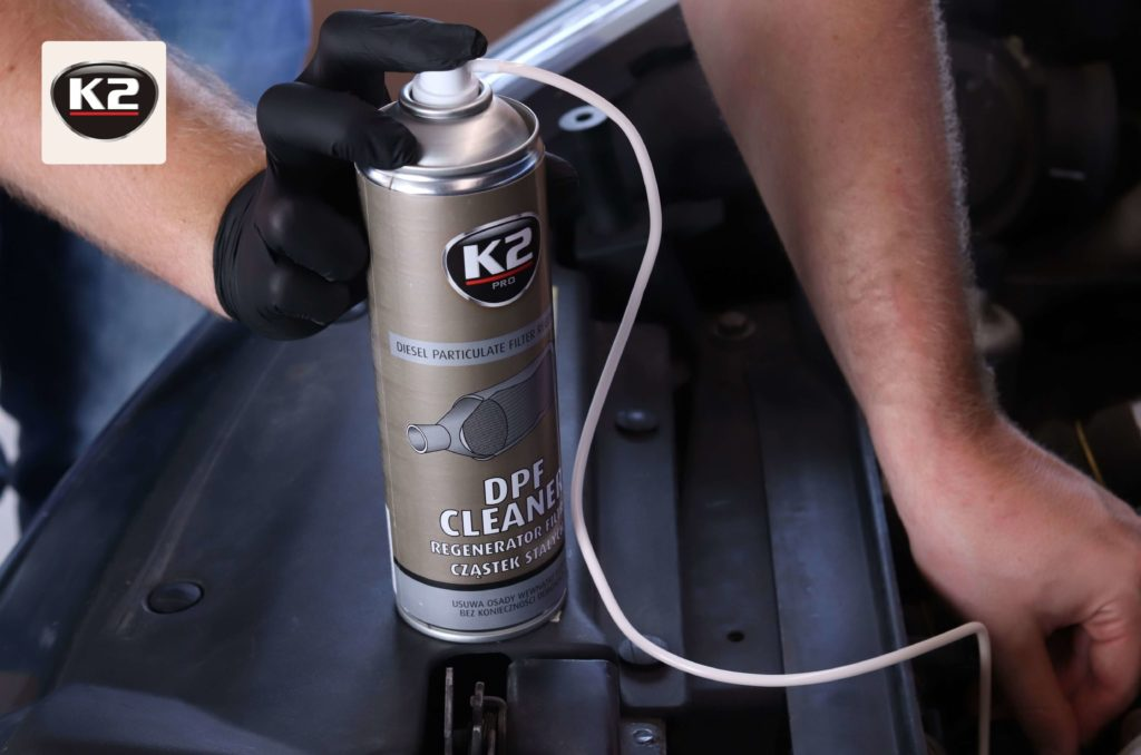 Aplikowanie K2 DPF Cleaner