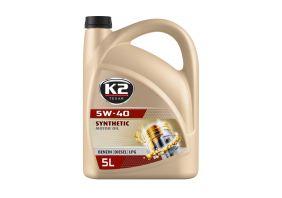 K2 TEXAR 5W40 BENZIN DIESEL LPG 5 L