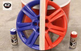 Malowanie felg gumą w sprayu K2 Color Flex