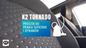 K2 Tornado, Tornado Plus - proszek do prania tapicerki i dywanów - zapachowy i bezzapachowy