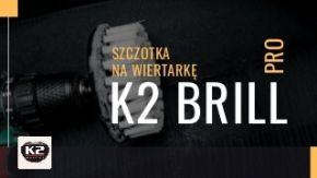 K2 Brill szczotka do czyszczenia tapicerki na wiertarke