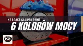 K2 Caliper Paint lakier do zacisków i bębnów hamulcowych - 6 kolorów