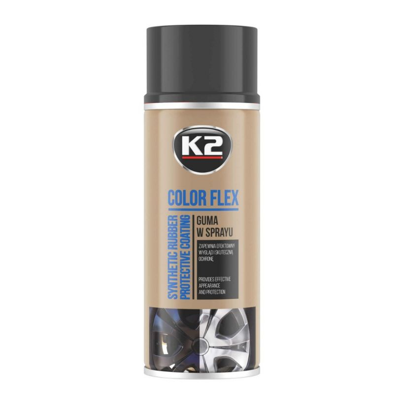 K2 COLOR FLEX CZARNY MAT 400 ML