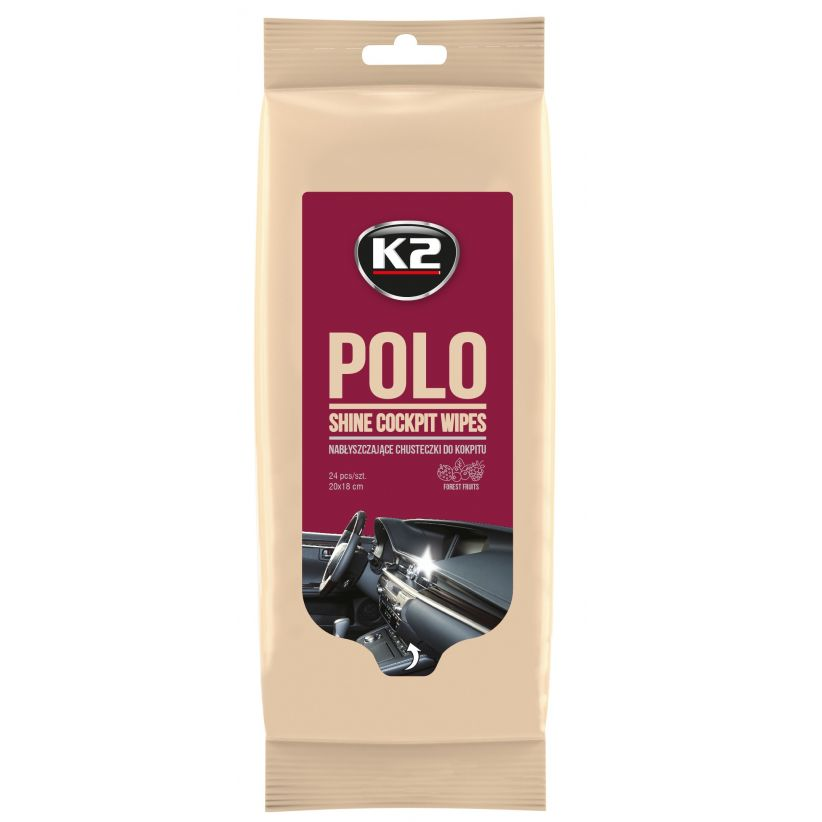 K2 POLO SHINE WIPES