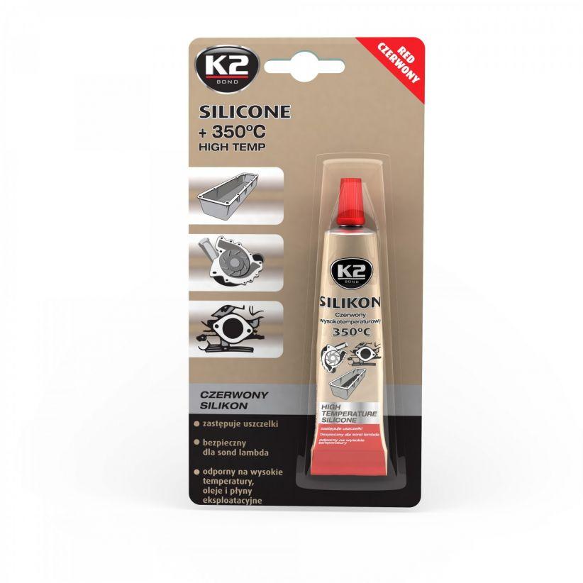 K2 SILIKON CZERWONY +350°C 21 G