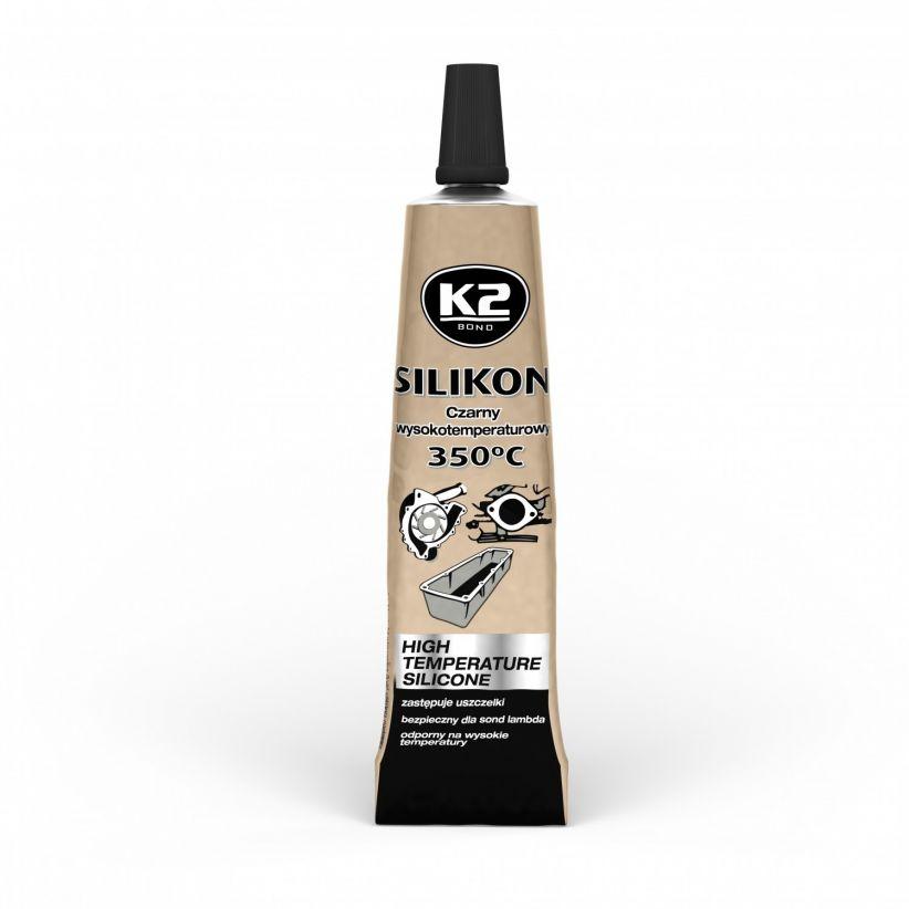 K2 SILIKON CZARNY BLISTER +350°C 21 G