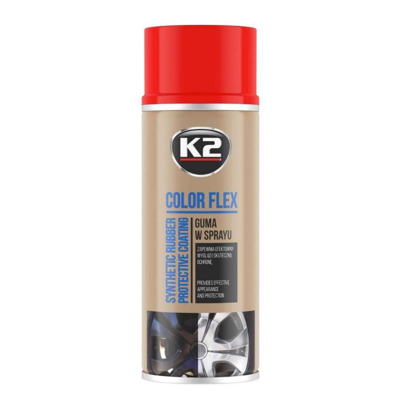 K2 COLOR FLEX CZERWONY 400 ML