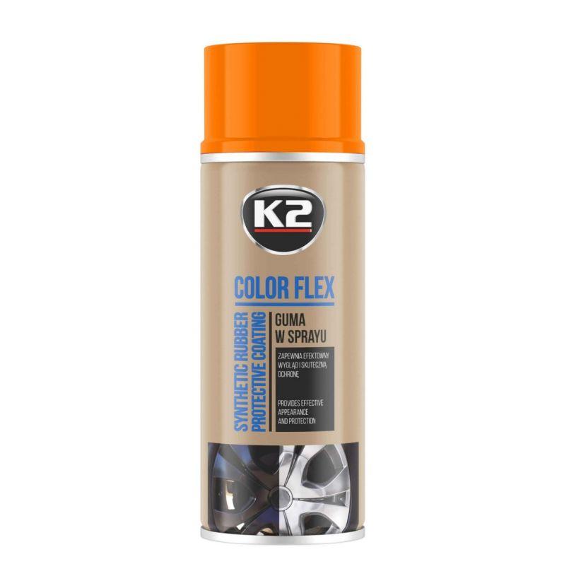 K2 COLOR FLEX POMARAŃCZOWY 400 ML