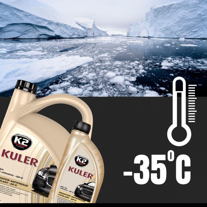 K2 KULER LONG LIFE -35°C ZIELONY 1L