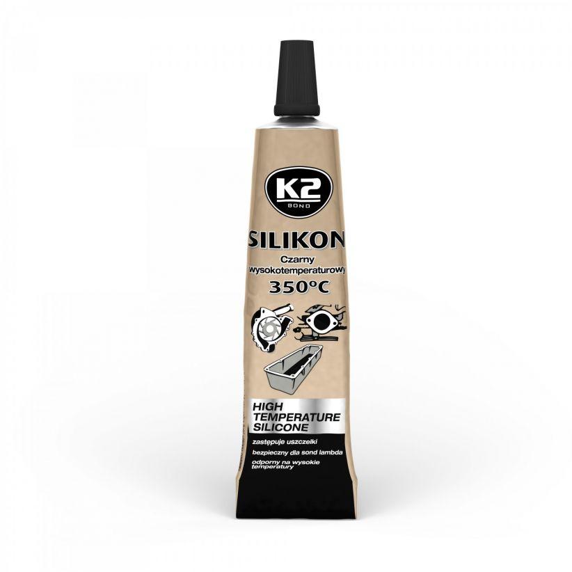 K2 SILIKON CZARNY LUZ +350°C 21 G
