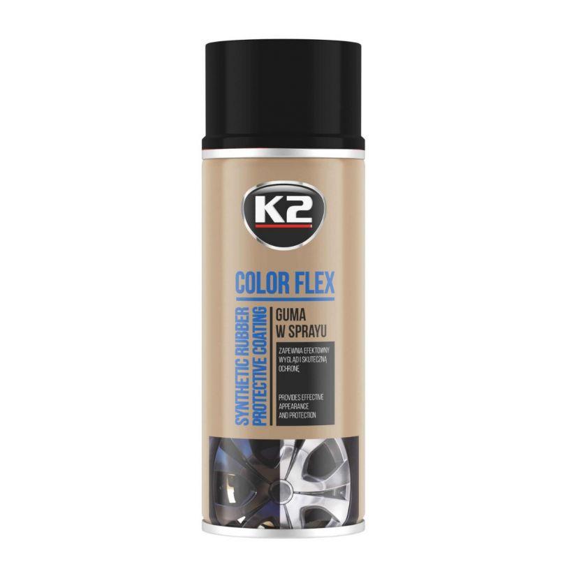 K2 COLOR FLEX CZARNY POŁYSK 400 ML